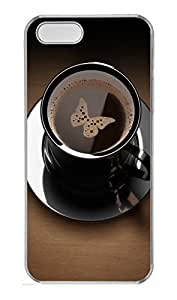 iPhone 5 5S Case Butterfly in Coffee Cup109 PC Custom iPhone 5 5S Case Cover Transparent by icecream design
