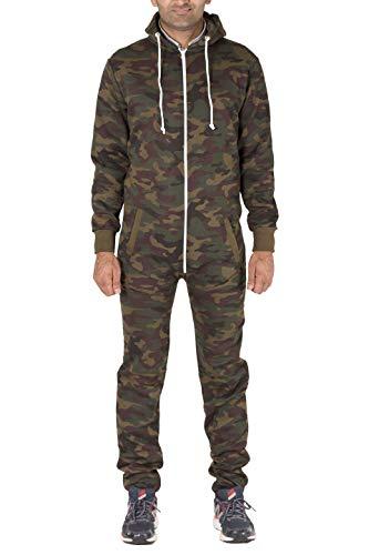 Noroze Mens Hoodie Jumpsuit Onesie One Piece Pajamas (Medium, Camouflage)