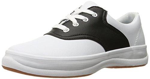 Keds School Days II Uniform Sneaker (Little Kid/Big Kid), White/Black, 2 M US Little Kid by Keds