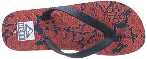Rifversnipperaar, Flip-flops Sandalen, Rode Bloemen, 12