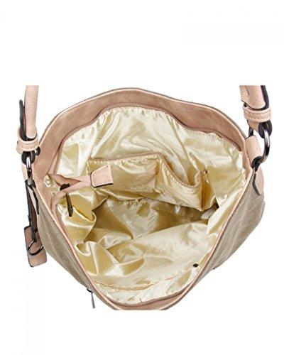 LeahWard® Groß Schule Taschen Damen Segeltuch Schultertasche Handtasche A4 160163 160164 Black Glitter Star b7yHMR5XI