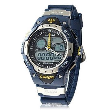 Reloj de los hombres de múltiples funciones análogo-digital del silicón del dial pulsera (colores surtidos) , Amarillo: Amazon.es: Deportes y aire libre
