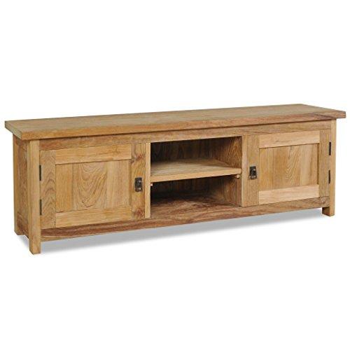 vidaXL TV Cabinet Solid Teak Colonial Rustic Sideboard Lowboard HiFi Plasma from vidaXL