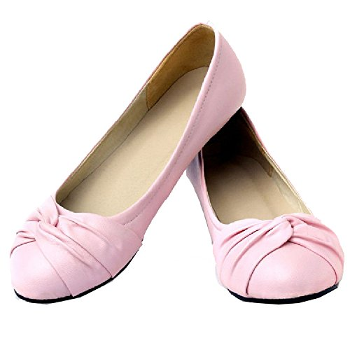 Ladies Match Shoes Flats Pink Casual Large with and 4 SJJH Colors All for OAqwnP