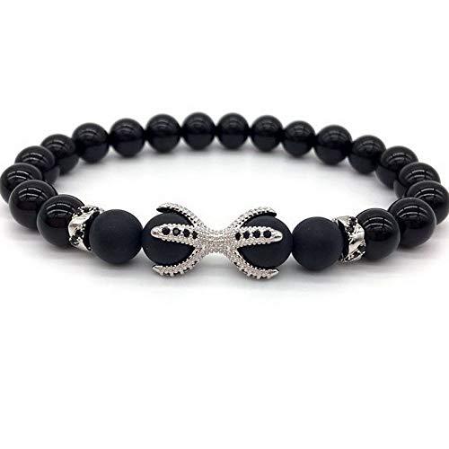 - Mikash New Men Bracelets Cubic Zirconia Dragon Paw Charm Bracelet Agate Stone Jewelry | Model BRCLT - 10533 |