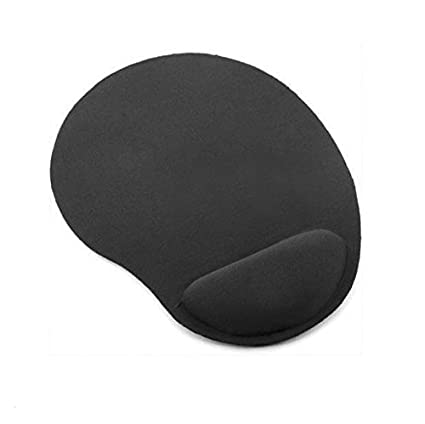 Grey Mouse Mat Pad Non Anti Slip Foam Backed Fabric for PC Laptop Gaming