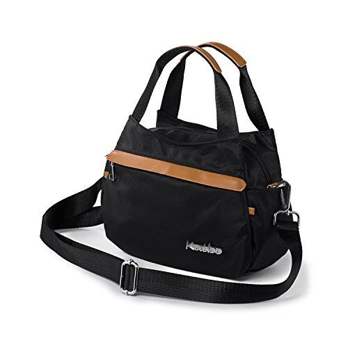 Small Handbags for Women Nylon Crossbody Purse Tote Bag with Zipper Pockets Lightweight Katloo (Lightweight Zipper)