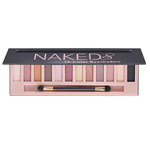 SMTSMT 12 Colors Makeup Shimmer Matte Naked Eyeshadow Powder Makeup Palette Cosmetic with Brush (#2)