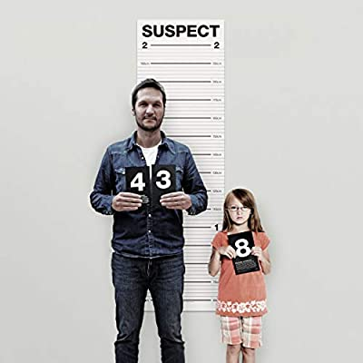 Suck UK Mugshot Height Chart | Wall Growth Chart For Kids & Adults | Party & Photobooth Prop: Toys & Games
