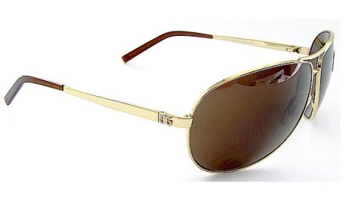 2c7fc5daf7e3 Authentic New Dolce   Gabbana Dg 2011 034 73 Sunglasses Brown Lens   Gold  Frame Sz 65-10-125  Amazon.co.uk  Clothing