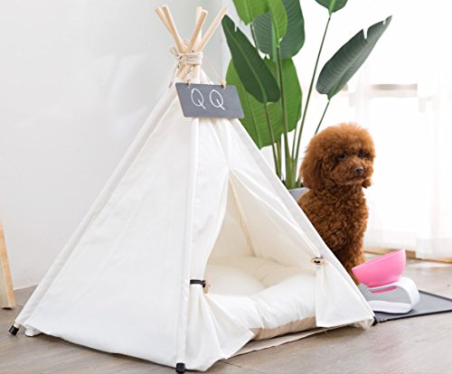 Yongs Pet Cat Dog Rabbit Teepee Cushion,Portable Puppy Small Animals Bed Tent (20 X 24 Inch) by Yongs (Image #1)
