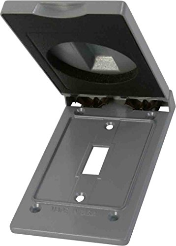 Greenfield CTSVPS Series Weatherproof Electrical Outlet Box Cover, Gray