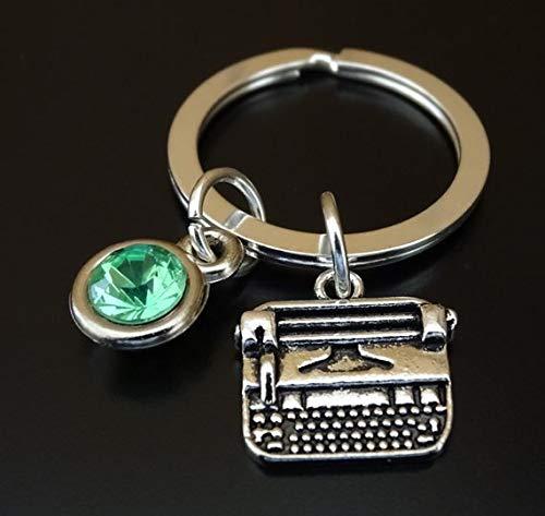 Typewriter Keychain, Typewriter Charm, Typewriter Pendant, Typewriter Key chain, Teacher Keychain, Teacher Key chain, Author Keychain, Author Gifts, Writers Keychain, Gift for Teacher