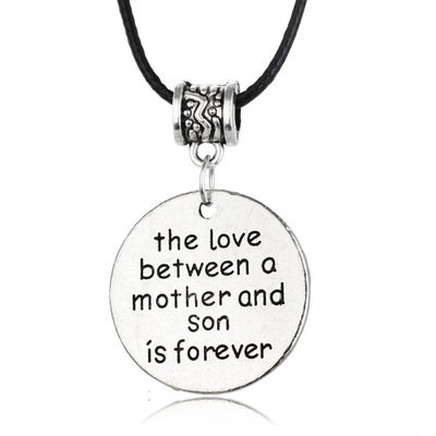 Mothers Birthday Day Gifts for Mom Son The Love Between A Mother and Daughter is Forever Pendant Necklace Mother Son Gifts