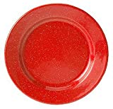 GSI Outdoors Red Graniteware Plate, 7 Inch