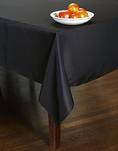 Chesna™ Black Table Linen 60 X 102 Inch Polyester Washable Oblong Table Cover Rectangular Tablecloth for Events, Parties, Weddings and Home (60 x 102 Inch, - Lining Lace Textile