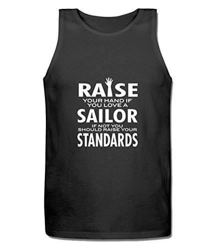 Beatles Rock Men's Fashion Love a Sailor If Not Raise Your Standards Tank Top black