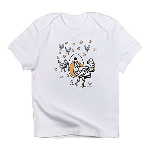 CafePress - Chickenflat - Cute Infant T-Shirt, 100% Cotton Baby Shirt