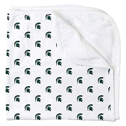 Wes and Willy Michigan State Univ All Over Print Baby Blanket Spartans Logo ()