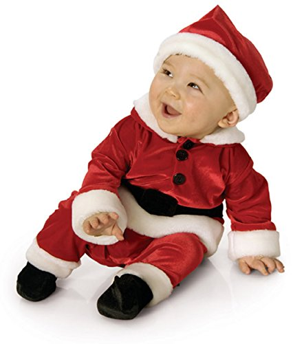 [New Childs Red Velvet Santa Baby New Born Costume 0-6m] (Infant Santa Costumes)