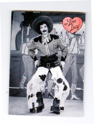 Lucille Ball trading card I Love Lucy 2001 Dart #35 Cowboy Home - Lucille Ball Autographs
