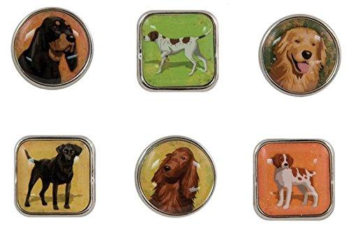 KAREN FOSTER Design Scrapbooking Bubble Brads, Sporting Dogs, 12 x - Brads Imaginations Creative