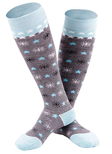 - Andorra Boy's Air Cushioned Merino Wool Full Terry Ski Socks, Blue Blizzard, 6-8