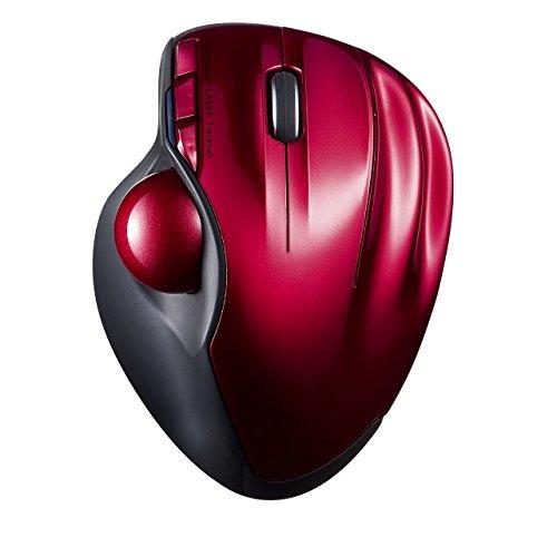 Sanwa Wireless Trackball Laser Mouse Red MA-WTB43R