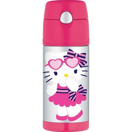 Thermos 12 Ounce Funtainer Bottle, Hello Kitty Hearts