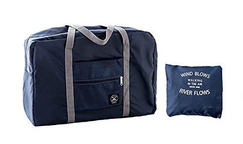 High Fashion Tote Handbag (H&N Fashion Trip Organized Zipper Waterproof Tote Handbag Travel Bag with High Capacity Foldable Storage Duffle Bag Dark Blue)