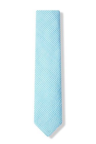 Sky Blue Chamberlain Check Sky Blue Seersucker Skinny Tie