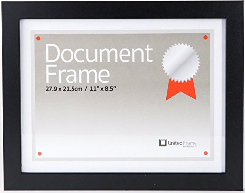 8.5X11 Document Frame – for Certificate, Diploma, Award, License or Permit Display, fine European Craftsmanship with Eco-sourced Wood, Lead-free Glass & Beveled - Diploma Award