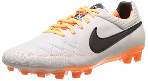 Nike Tiempo Legend V AG 631612-008 Sand/Black/Orange Men's Soccer Cleats Boots (size 7.5)