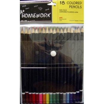 Colored Pencils - Premium Quality - 18 pack 48 pcs sku# 1192878MA by DDI