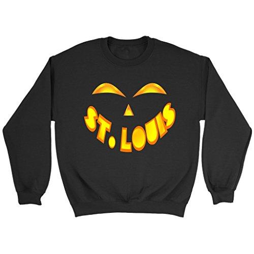 St. Louis Jack O' Lantern Pumpkin Face Halloween Costume Sweatshirt, 2XL