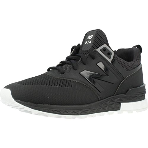 New Balance Men's 574 Sport Classic Running Shoe, Black, 8.5 D US (Running 574 Shoes Mens Suede)