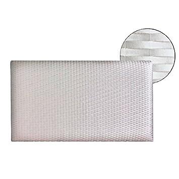 Ventadecolchones - Cabecero Modelo Lisse tapizado en Polipiel Córdoba Blanco Nácar Medidas 106 x 70 cm (para Camas de 90 ó 105 cm): Amazon.es: Hogar