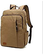 YSDHE Casual Backpack Universal Wild Large Capacity Canvas Bag USB Charging Port Package Student Packet (Color : #3)