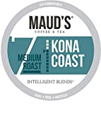 Maud's Kona Coffee Blend (Kona Coast), 100ct. Recyclable Single Serve Coffee Pods - Richly satisfying arabica beans California Roasted, k-cup compatible including 2.0