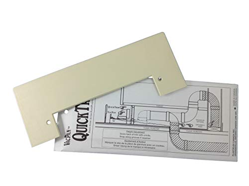 VacPan Trim Plate for Central Vacuum Systems Ivory/Almond. A Dustpan to Your Built in Vacuum!