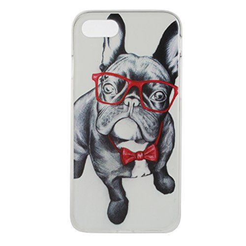 Custodia iPhone 7 / iPhone 8 , LH Ojos Perro TPU Trasparente Silicone Cristallo Morbido Case Cover Custodie per Apple iPhone 7 / iPhone 8 4.7