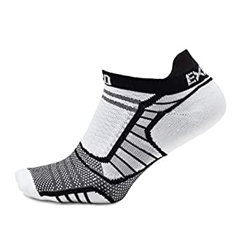Thorlos Experia womens XPTU Xptu Running Ultra Thin No Show Sock Running Socks - black - X-Small