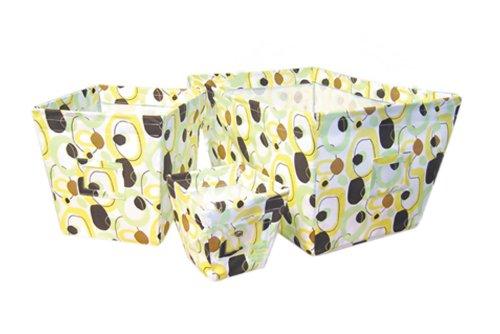 Trend Lab Fabric Storage Bin, Gigi Print, Large by Trend Lab