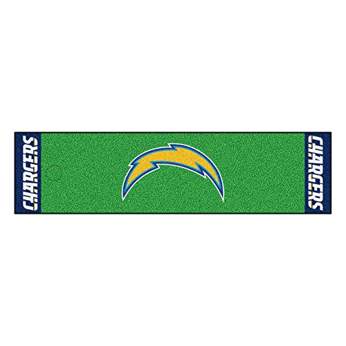 FANMATS NFL San Diego Chargers Nylon Face Putting Green Mat