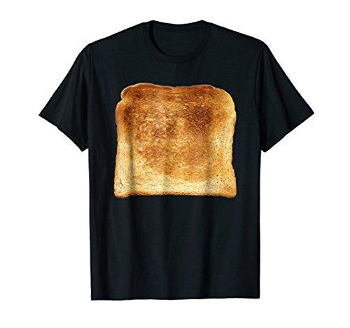 Mens Bread & Toast T-Shirt Halloween Costume Ideas Medium Black -