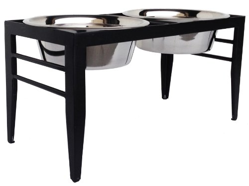 Chariot Double Bowl Elevated Dog Diner Large 10