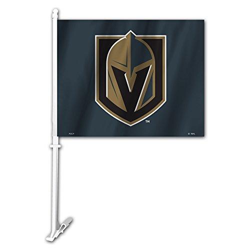 Fremont Die NHL Vegas Golden Knights Unisex Car Flagcar Flag, Black & Gold, One Size