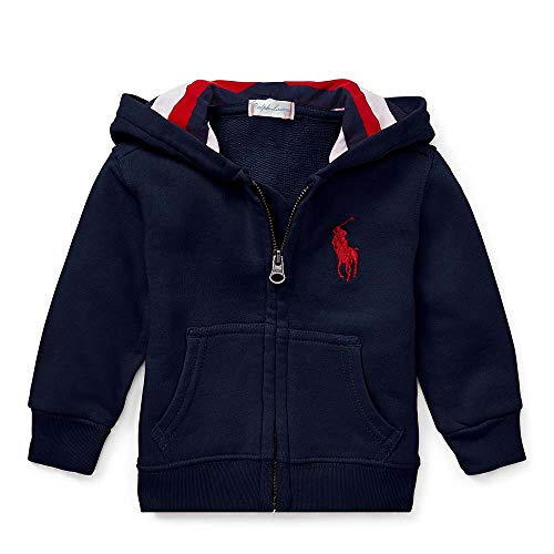 - Polo Ralph Lauren Baby Boy's Cotton French Terry Hoodie, 24 Months, Navy