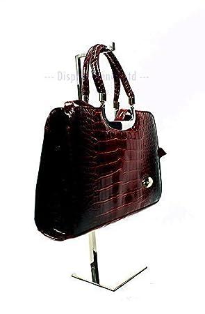 61a3c344e96 Présentoir en acier inoxydable réglable pour sac de suspension pour foulards