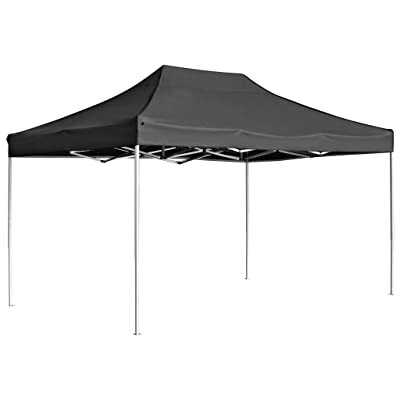 vidaXL Professional 177.2x118.1 inch Professional Folding Canopy Tent Commercial Instant Canopies Shelter Portable Gazebo Party Tent Shade Sun Shelter(Rust-Resistant Aluminium Alloy) Anthracite : Garden & Outdoor